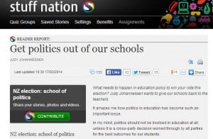Politics out of education