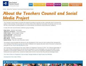 Teachers council social media